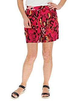 Animal Print Wide Leg Shorts