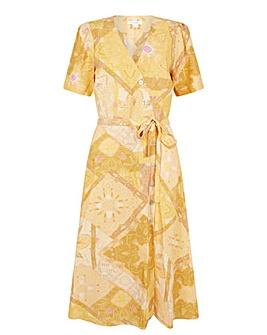 Monsoon Goldie Scarf Print Wrap Dress