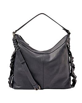 Monsoon Plaited Leather Shoulder Bag