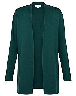 Monsoon Zip Cuff Longline Cardigan