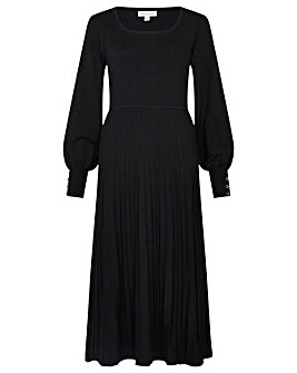 Monsoon Square Neck Pleated Dress