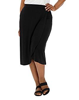 5644cea8a85e9 Stretch Jersey Wrap Midi Skirt