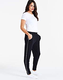 Side Piped Jersey Trousers Regular
