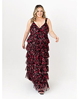 Anaya With Love Floral Tiered Maxi Dress