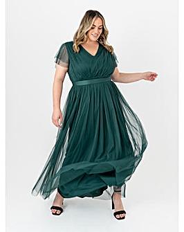 Anaya With Love Pine Green Maxi Dress