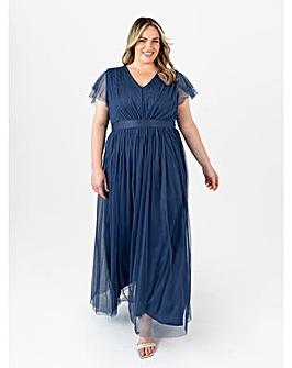 Anaya With Love Indigo Blue Maxi Dress