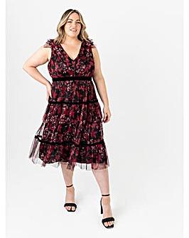 Anaya With Love Floral Midi Dress