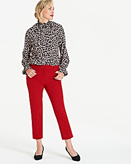 Deep Red Everyday Meghan Cigarette Trousers