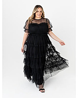 Anaya With Love Black Tiered Maxi Dress