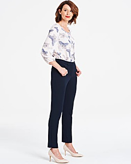 Navy Everyday Kate Slim Leg Trousers Regular