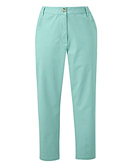 Cotton Rich Comfort Stretch Crop Chino Trousers