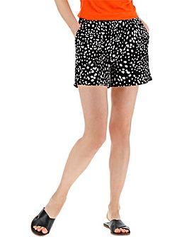 Spot Print Crepe Shorts