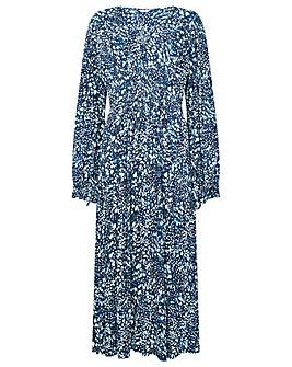 Monsoon Shirred Animal Print Dress