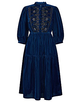 Monsoon Military Embroidered Dress