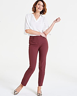 Aubergine Kate Everyday Slim Leg Trousers