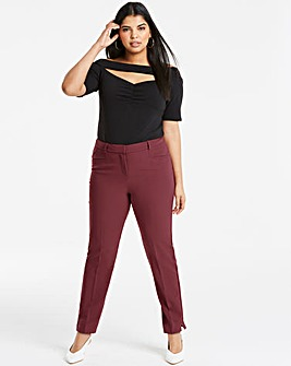 Aubergine Kate Everyday Slim Trousers