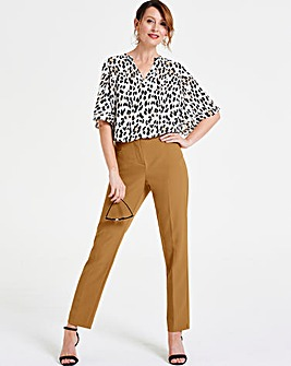 Nut Brown Kate Everyday Slim Leg Trousers
