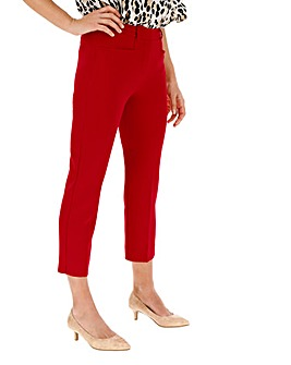 Red Meghan Everyday Cigarette Trousers