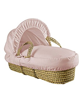 Clair De Lune Cotton Palm Basket - Pink
