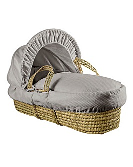 Clair De Lune Cotton Dream Palm Moses Basket - Grey