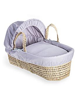 Clair De Lune Cotton Dream Palm Moses Basket - Grey