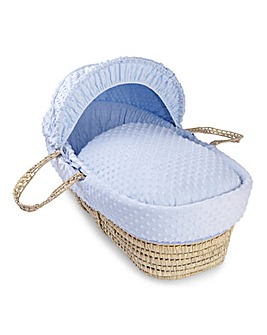 Clair De Lune Dimple Palm Moses Basket - Blue