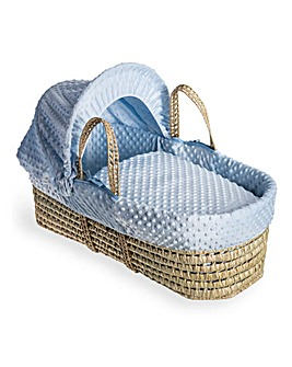 Clair De Lune Dimple Palm Moses Basket - Blue