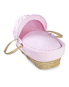 Clair De Lune Dimple Palm Moses Basket - Pink