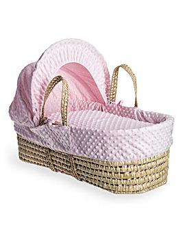 Clair De Lune Dimple Palm Moses Basket - Pink