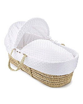 Clair De Lune Dimple Palm Basket - White