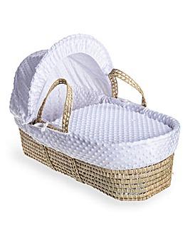 Clair De Lune Dimple Palm Moses Basket - White