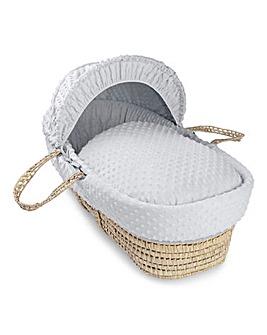 Clair De Lune Dimple Palm Moses Basket - Grey