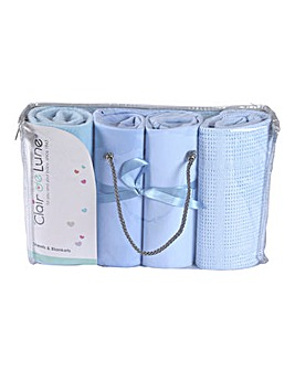 Clair De Lune 4 Piece Cot Bed Bedding Bale Gift Set