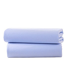 Clair De Lune 2 Pack Fitted Cotton Jersey Cot Bed Sheets