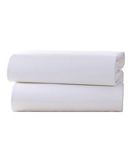 Clair De Lune 2pk Cotton Cot Bed Sheets