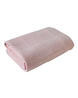 Clair De Lune Soft Cotton Cellular Cot Blanket