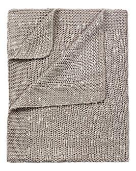 Clair De Lune Sparkle Knit Blanket