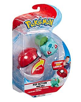 Pokemon Pop Action Poke Ball Bulbasaur