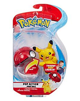 Pokemon Pop Action Poke Ball Pikachu