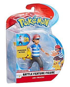 Pokemon Battle 4.5inch Ash & Pikachu