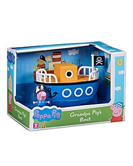 Peppa Pig Grandpa Pigs Boat Solid