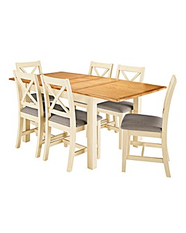 Harrogate Large Extending Table 6 Chairs