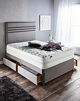 Silentnight Mirapocket Superior 2000 pocket Memory Divan Set with 4 Drawers