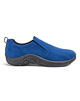 Suede Slip On Shoes Standard Fit