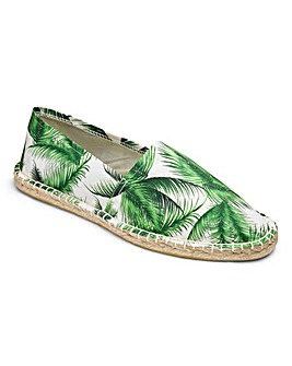 Trustyle Palm Print Canvas Espadrilles Standard Fit