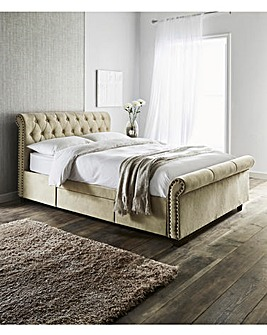 Kingsley Fabric Bedstead with 2 Storage Drawers
