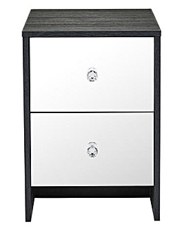 Dior Mirrored 2 Drawer Bedside Table