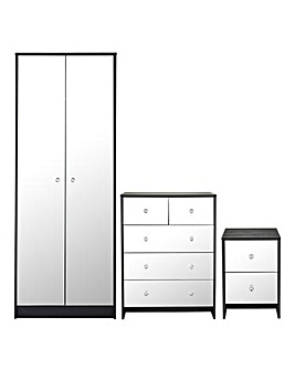 Dior Mirrored 3 Piece Bedroom Package