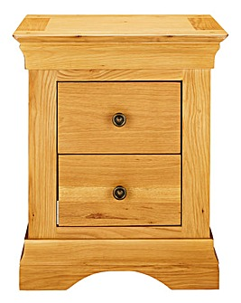 Malvern Assembled 2 Drawer Bedside Table