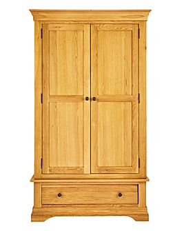 Malvern 2 Door 1 Drawer Wardrobe